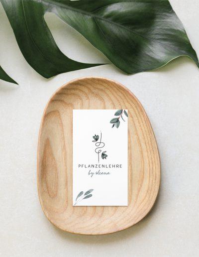 Pflanzenlehre by Oleana Visitenkarte